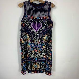 Maeve Embroidered Dress Shift Sz 6